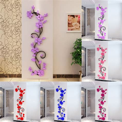 3d flower removable wall vinyl decal home decor
