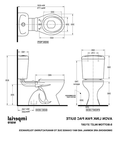 toilet layout standards dimension cuvette wc suspendu collection avec enchanteur