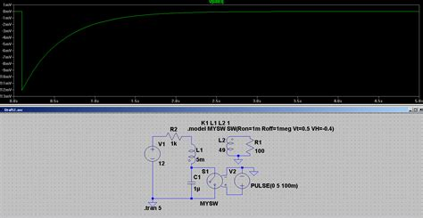 ltspice inductor simulation crl circuit discharge analysis electrical engineering stack exchange