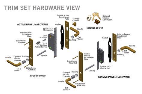 400 Series Frenchwood Patio Door Hardware Parts Diagram