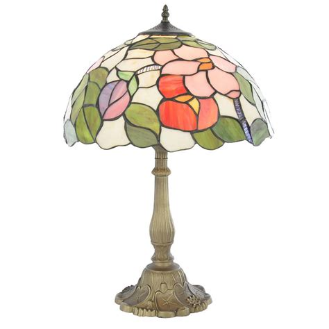 large tiffany l shade tiffany table l with multi coloured shade floral 16