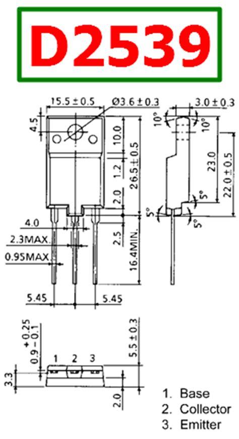 d2539 datasheet vcbo 1500v npn transistor toshiba