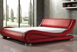 Red Bed Uniquely Designed Red Leather Bed Available In Queen And