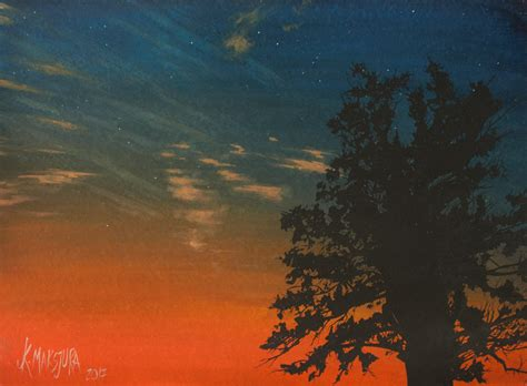 Sunset Bliss sunset bliss watercolors on paper 560x760mm