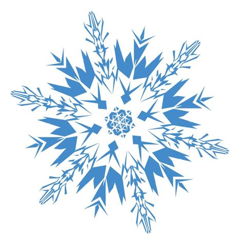 White snowflake clip art graphics collections