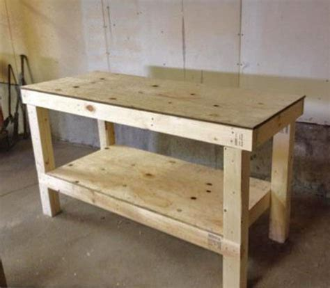 workshop bench ideas easy diy garage workshop workbench knock off wood bloglovin