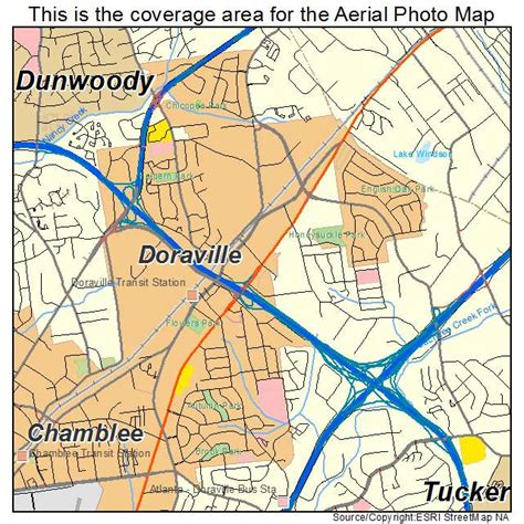 doraville map aerial photography map of doraville ga