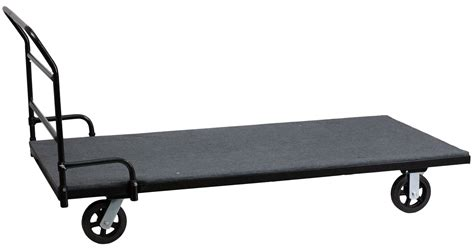 folding table dolly folding table dolly with carpeted platform for rectangular