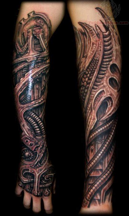 mechanical sleeve tattoo mechanical grey ink sleeve tattoos