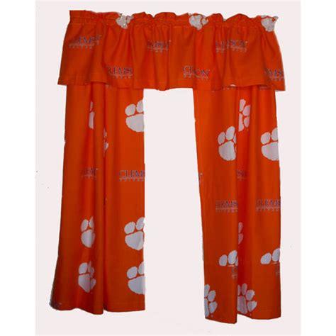 clemson curtains clemson tigers short window drapes 63 quot