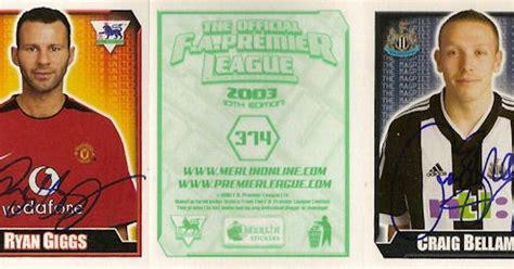 Fa Premier League Gold Chions Badges 2002 2003 Utd football cartophilic info exchange merlin f a premier league 2003 01 checklist