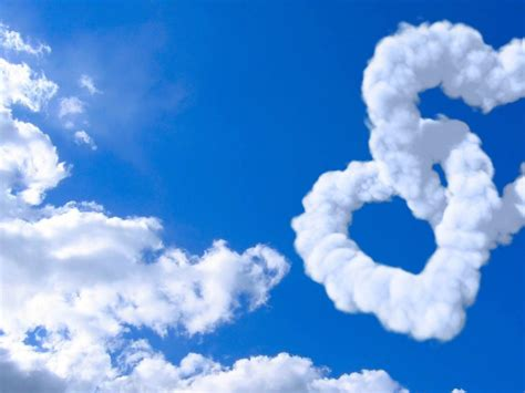heart shaped cloud    animated double heart clouds