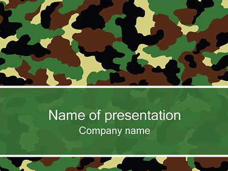 Camouflage Powerpoint Template Quantumgaming Co Camouflage Powerpoint