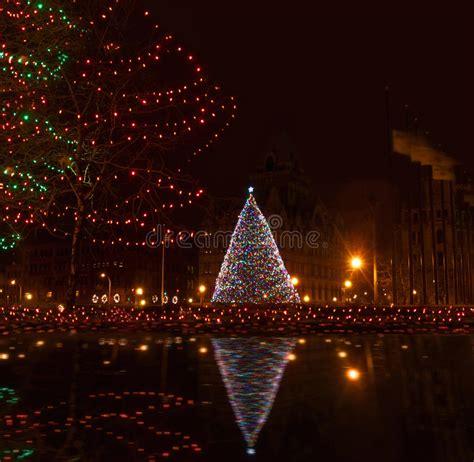 syracuse ny at christmastime royalty free stock photos