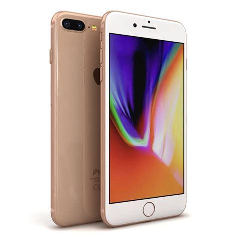 3 iphone models apple iphone 8 gold 3d model turbosquid 1220719
