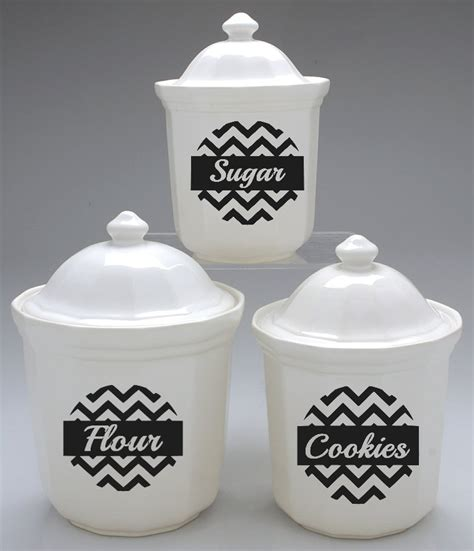 chevron kitchen canister labels on luulla chevron canister label set of 4 design 2 183 stickie