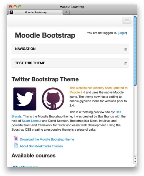 moodle theme version moodle in english new version of the bootstrap theme