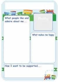 One Page Profile Template by One Page Profile Templates Downloads Autism