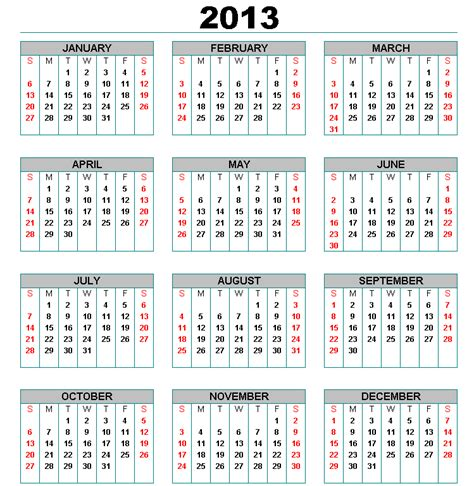 2013 yearly calendar template printable year calendar 2013 2014