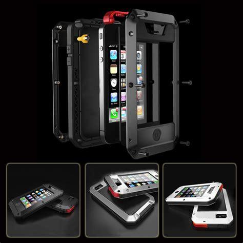 Casing Apple Iphone 4s Model Iphone waterproof shockproof aluminum gorilla metal cover for apple iphone models 4 4s 5 5s se 6