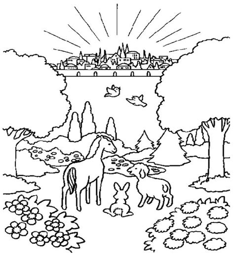 printable heaven images the city of god coloring page fall 2013 discipleland