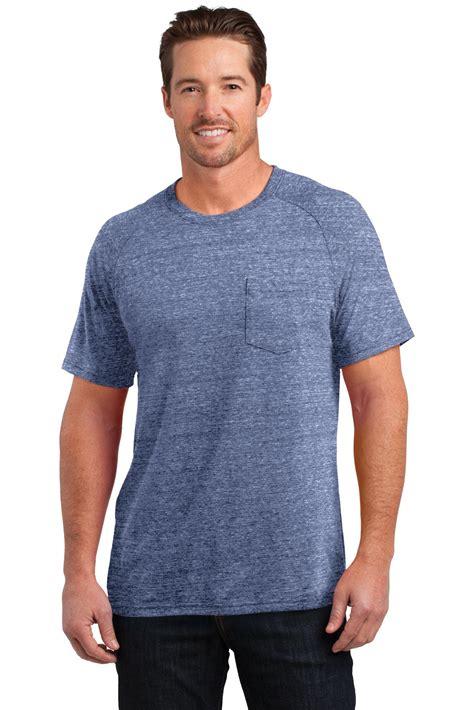 Made By T Shirt district made t shirt dm340 mens tri blend pocket new