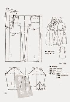 Raglan Attack On Titan 09 inverness cape coat pattern with period