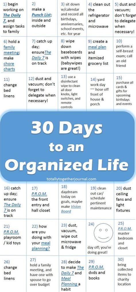 organizing life 30 days to an organized life