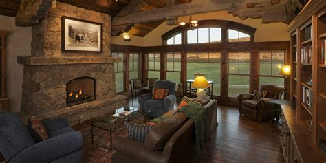 living room caign rustic cabin home plans house plans