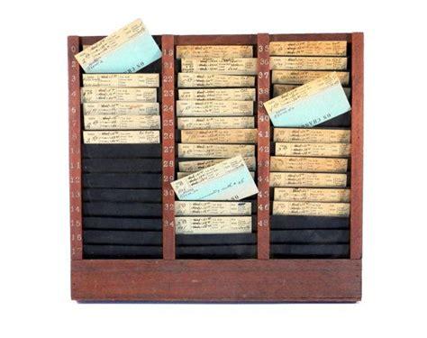 Hotel Registration Card Racks by Reserved 9 6 Tomer Hotel Oak Rack Wood And Metal Index Card File For Front Desk Or Room Service