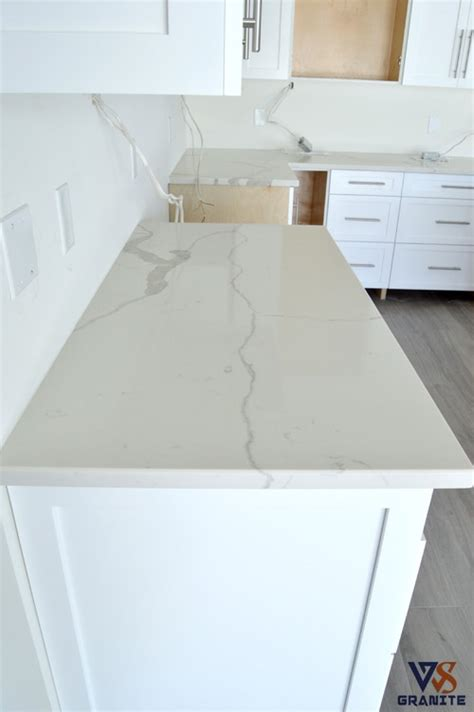 Kitchen With Off White Cabinets calacatta classique quartz from msi kitchen