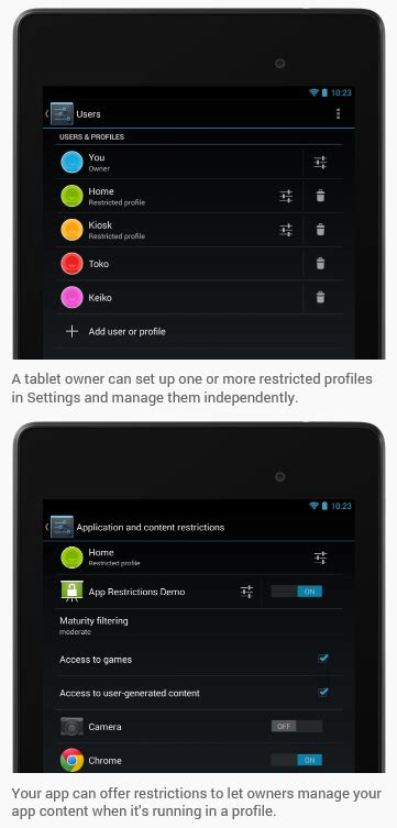 android restricted profiles android 4 3 jelly bean is official here s what s new redmond pie