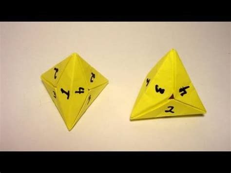 How To Make A Paper Sided - origami 4 sided dice tetrahedron