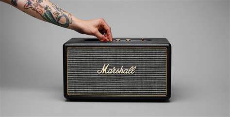 Speaker Marshall marshall stanmore bluetooth speaker designandinternet