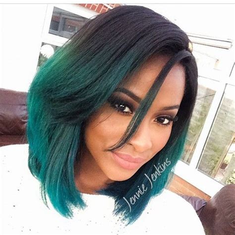 hairstyles for dyed black hair gorgeous black girl with medium length hair cut into a
