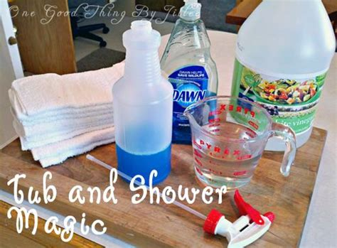 clean bathtub with vinegar and dish soap how to make a powerful homemade shower cleaner shower