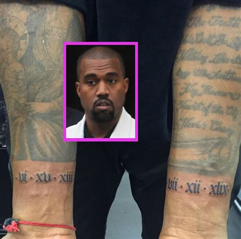 kanye west gets inked find out what the rapper s new