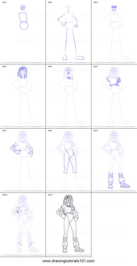 Drawing Step By Step by How To Draw Aerobic Assassin From Fortnite Printable Step