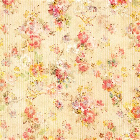 Wallpaper Shabby Vintage shabby chic vintage antique floral wallpaper stock