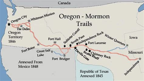 map of oregon landmarks mormon trail map lds