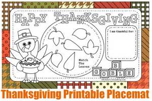 free printable thanksgiving placemats placemats colouring pages