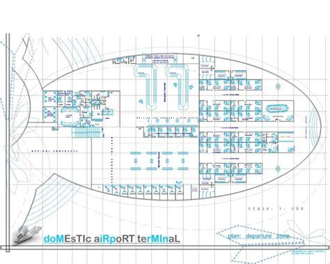 airport terminal floor plans domestic airport terminal at shirdi by aditi kulkarni at
