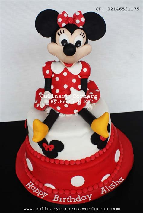 Cookies Caracter Minie Mouse 3d Kue Ulang Tahun Minnie Mouse Culinary Corners Page 2
