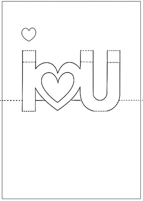 i you 3d card template printable pop up cards pop up i you card photo