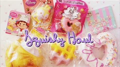 cafe de n squishy supplier squishy haul 2 peko chan disney cafe de n etc