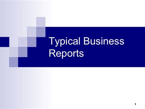 types of business reports