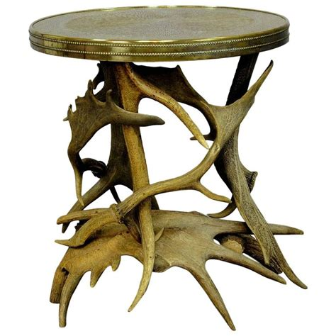 Antler Table by Log Cabin Antler Side Table At 1stdibs