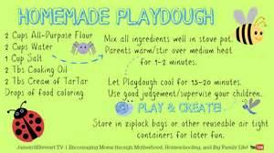 Easy homemade play dough recipe for frugal homeschool fun free