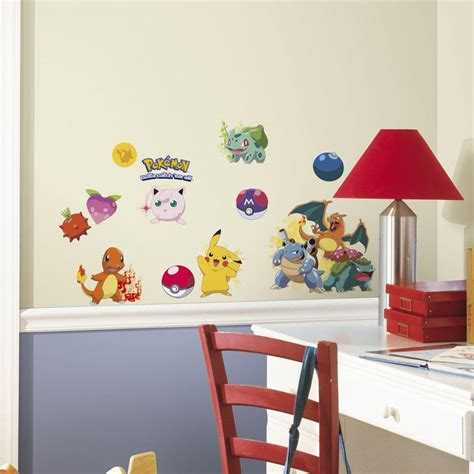 peel and stick wall decals roommates 5 in x 11 5 in pokemon iconic peel and stick