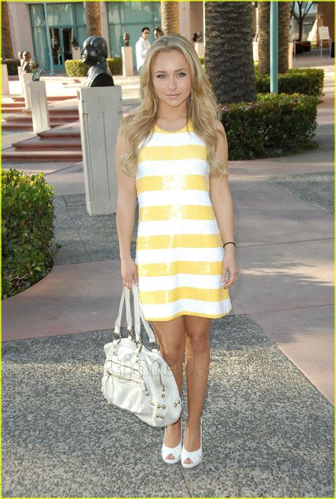 Get A Yellow Dress Like Hayden Panetierre by Hayden Panettiere Amanda Wakeley And Dress Brands On